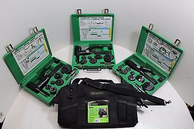 HUGE LOT of Greenlee 7906SB Quick Draw 90 Hydraulic Punch Set with NEW BAG!