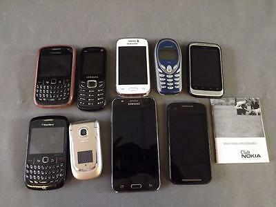 Job Lot of 9 Mobile Phones (0216-DD)