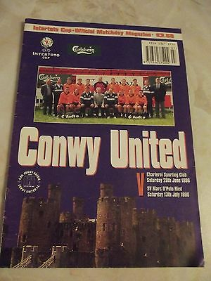 CONWY UNITED v CHARLEROI and SV MARC O'POLO INTER-TOTO CUP 1996-97 SEASON