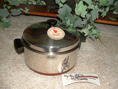 Vintage NOS Revere Ware 6 Qt. Dutch Oven No. 1585 *NEW* pre 1968