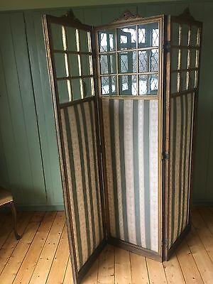 19th Century Three Panel Screen (CASH ON COLLECTION ONLY)