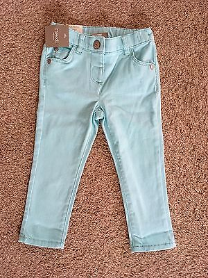 BNWT Next Baby Girl Mint Soft Jeans 18-24 Months