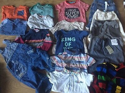 Large Bundle Of 9-12 Months Good Quality Baby Boys Clothing All Seasons