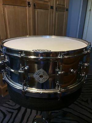 Very Rare Vintage 1970's Meazzi,  Fran Co / Hollywood, 14 x 5 Steel Snare Drum