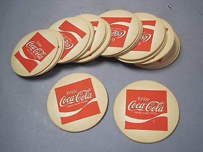 Set of 24 Vintage Coca Cola Pressed Paper Board  Drink Coasters Unused VGC Set