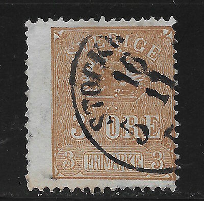 Sweden 1862 Lion TYPE I  (Scott 13b, Facit 14A), cat 5500 SEK (SCV $675)