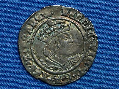 Henry VIII Groat - 2nd coinage - Tower - Bust D - mm sunburst - Rare
