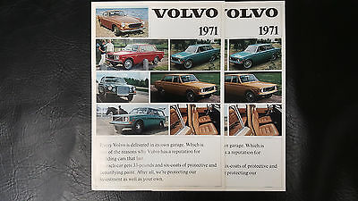 2 Vintage 1971 Volvo Brochures Fold-Out Ads 164 142 144 145 Wagon 1800E Original