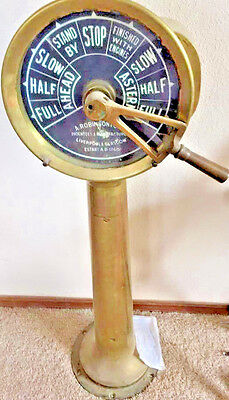 "Large 42 "" Antique English Nautical Maritime Ship's Telegraph by Robinson"