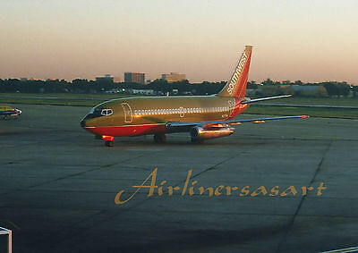 "Southwest Airlines Boeing 737-2H4 N27SW at DAL November 1979 8""x12"" Color Print"