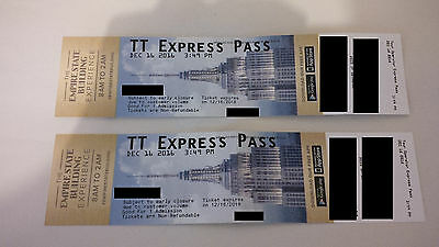 2 Empire State Building Express Pass tickets NYC NY New York Manhattan tourist