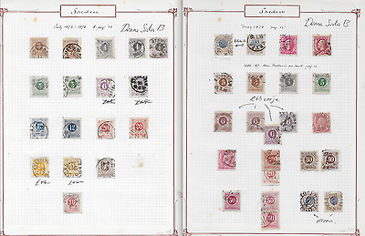 Sweden collection of ringtypes, with four copies of Scott/Facit 44