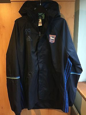 Rare embroidered Large Adidas Ipswich Town training wet top