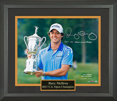 Rory McIlroy Autographed US Open Framed Photo
