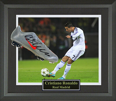 Cristiano Ronaldo Autographed Cleat Framed