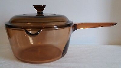Large Vision Corning Glass Saucepan 1.5L with Original Lid