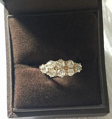 18ct Yellow Gold Old Mine Cut Victorian Diamond Ring