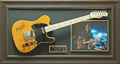 Bruce Springsteen Replica Signature Guitar Framed Display