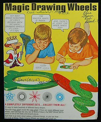 [ 1971 Quaker KING VITAMAN Vintage CEREAL BOX - Magic Drawing Wheels- Jay Ward ]