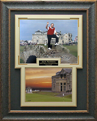 Jack Nicklaus Signed 2005 Open Farewell Photo Framed