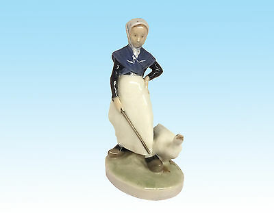 "Royal Copenhagen Figurine ""Goose Girl"" Model No. 528"