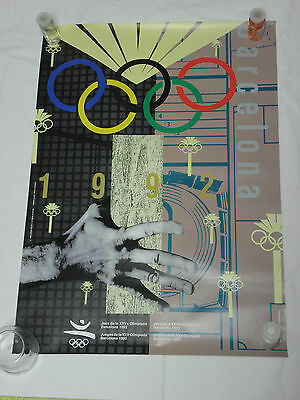 OLYMPIC GAMES Barcelona 92 Poster. PARALLEL BARS Original. By Alfonso Sostres.