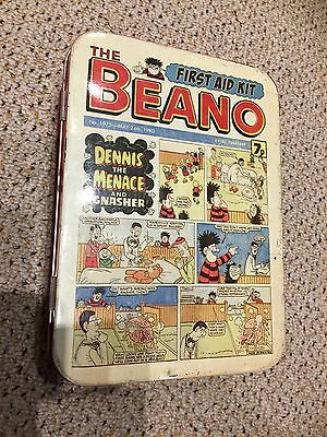 Very Rare Limited addition vintage beano First Aid tin. Vgc.Benefits Charity.