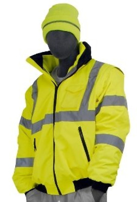 Majestic Glove 75-1300 PU Coated Polyester High Visibility Bomber Jacket with