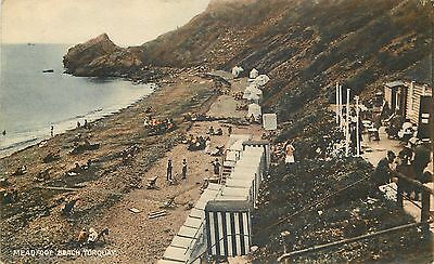 s07848 Meadfoot Beach, Torquay, Devon, England postcard unposted