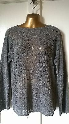 Oska - Taupe Grey Cotton Knit Jumper  Size Iii Uk 14