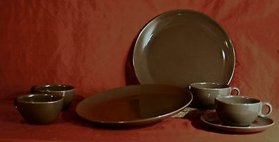 Russel Wright Iroquios Casual China Charcoal Colored assort. Dinnerware