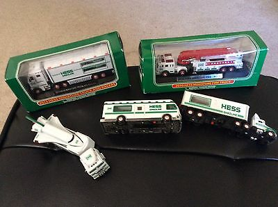 Hess Miniature Toy Trucks 2 New In Box 3 Used