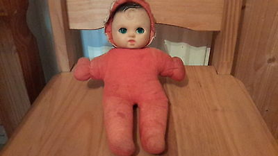 Vintage 50's Baby Doll Red Romper Suit Circa