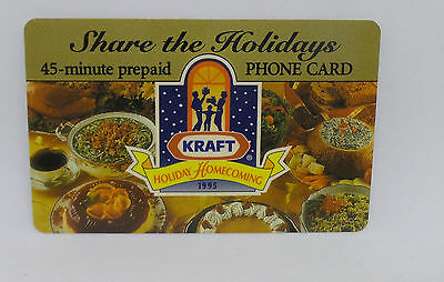 Sprint Share The Holidays 45 Minute Prepaid Phone Card Kraft - Phonecard 1995