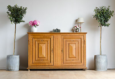 Large French Antique Oak Linen Pantry Larder Sideboard Cupboard Cabinet
