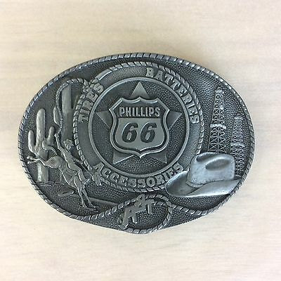 Phillips 66 Vintage Belt Buckle Tires Batteries Accessories