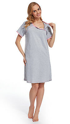 Maternity / Nursing /feeding 100% Cotton Nightdress Nightshirt