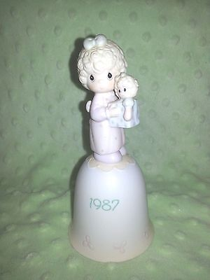 Precious Moments Christmas Bell Love is the Best Gift of All 1987