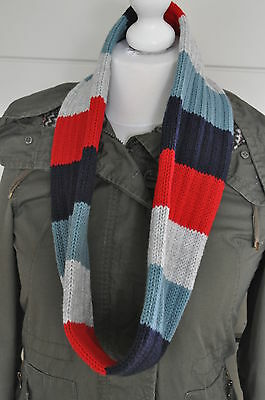 New kids scarf,snood,blue/RED/GREY,size 2-3 years
