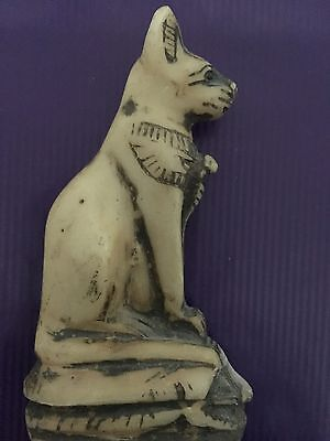 ANCIENT EGYPTIAN CAT AMULET LATE DYNASTIC 30th DYN 380 BC