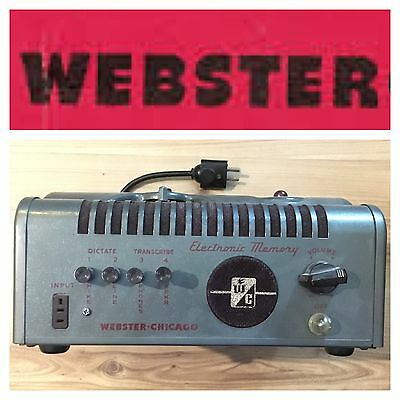 Webster-Chicago Webcor 18-1 R ELECTRONIC MEMORY 18-11 R Wire Recorder 1949 1950