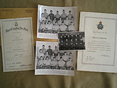 1950s Group of Royal Canadian Air Force Photographs & Certificates to TINKAM