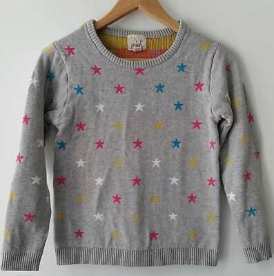 Peek Girls Size 14 3XL Star Sweater Grey Long Sleeve Stars