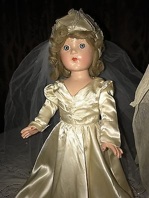 "Vintage All Composition AO Effanbee Little Lady/Anne Shirley 18"" Princess Veil"