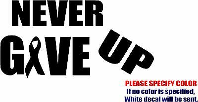 Never Give Up Cancer Survivor #05 Graphic Die Cut decal sticker Car Truck 7""