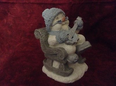 "Snow Buddies ""BAND FROSTBITE ON BANJO""  Winter Christmas Collectible Figurine"