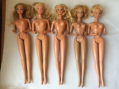 vintage Mattel Barbie Doll x 5 / Philippines and Taiwan