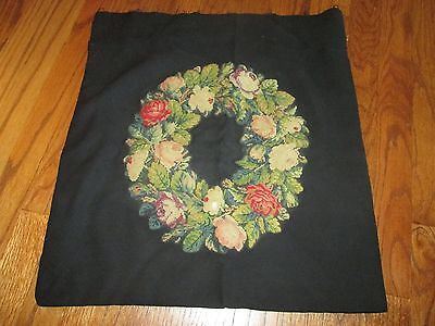 Antique Petit Point Needlepoint Pillow Cover – never finished