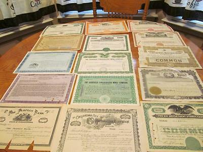 25    Bonds /   Stock Certificates; All Different;lot # 11