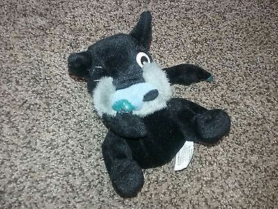 "6"" Vintage Meanies Series 2 Adult Beanie Baby Parody Digger The Snottish Terrier"